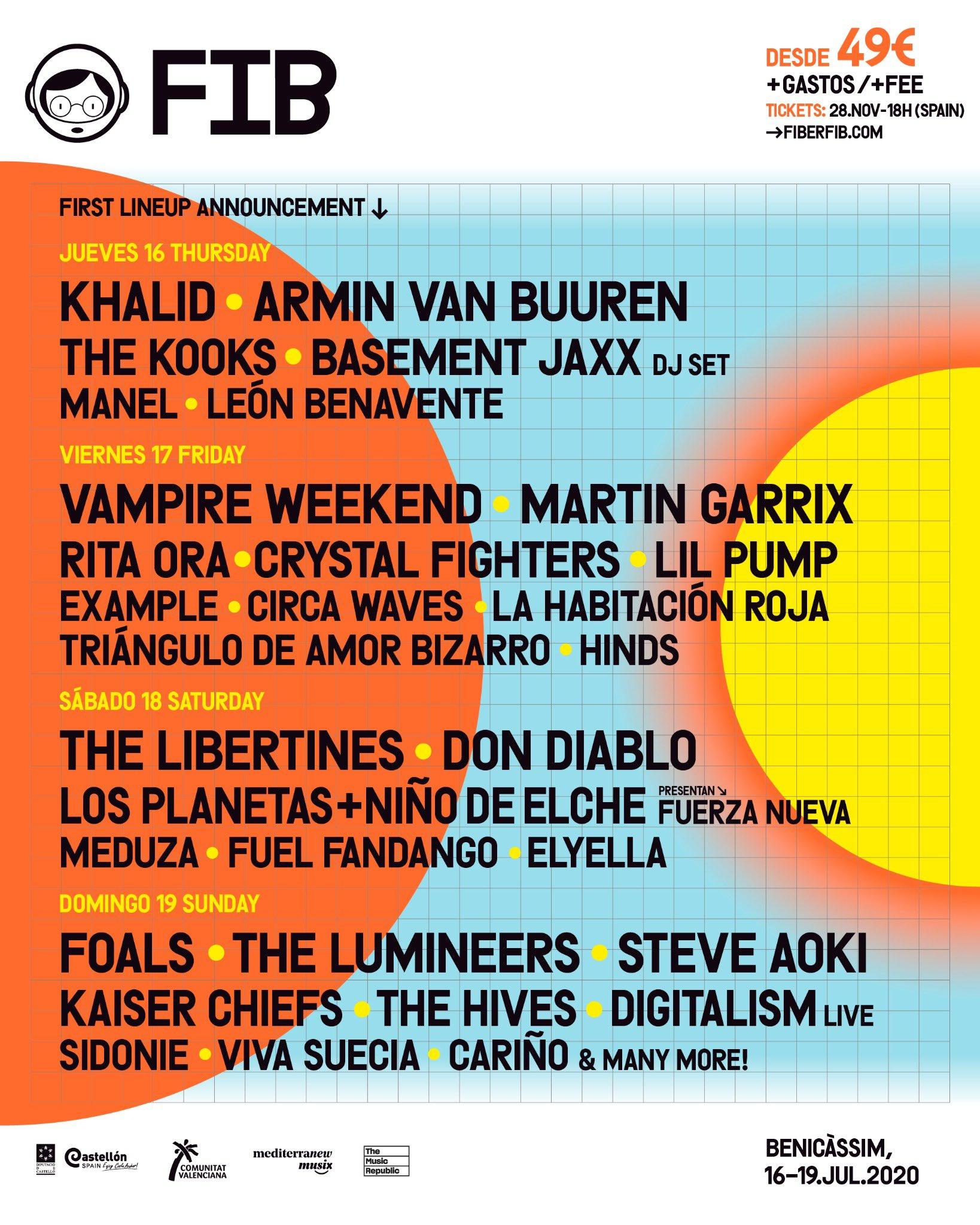 Benicàssim Festival Lineup