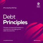 Image for the Tweet beginning: #GICTips #ThursdayTips  #DebtPrinciples The key to financial