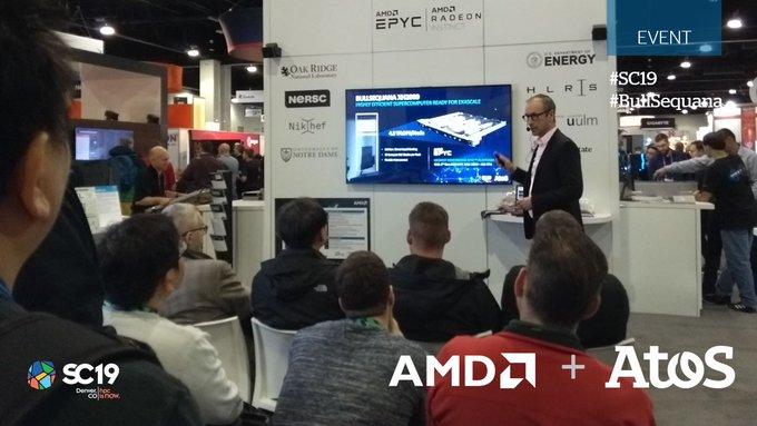 Atos TechTalk @AMDServer booth at #SC19. Eric Eppe, @AtosBigData #HPC & #Quantum,...