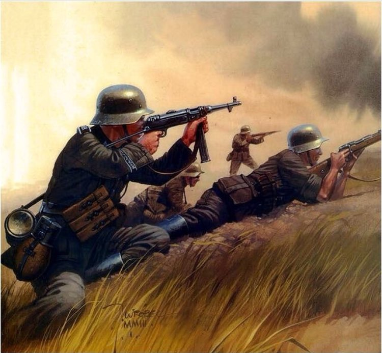 #WW2Art – Panzergrenadier