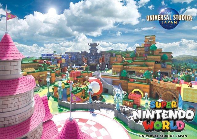 5000RT:【来年オープン予定】USJ、「任天堂」エリアの新ビジュアルを公開!ピーチ城やクッパ城などが描かれているほか、エリア内には「マリオカート」のアトラクションも登場するとのこと。