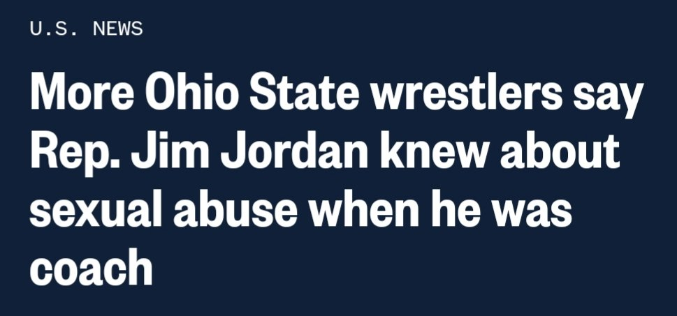 @Jim_Jordan Really??? You knew about the sexual abuse and did nothing? #JimJordanKnew  #GymJordan https://t.co/0Mx7LA2RWS