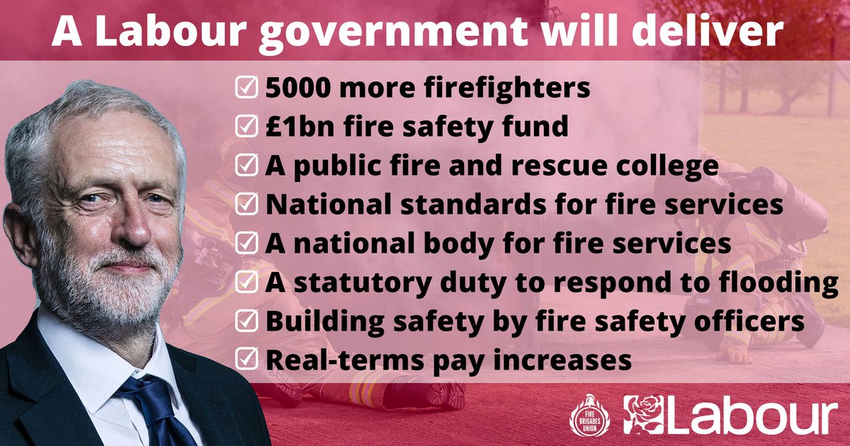 The future of our fire and rescue service is at stake in this election. #LabourManifesto #GE19 #GE2019