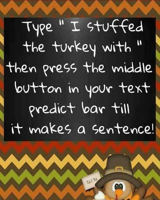 I stuffed the turkey with the bridal party and I will be there. 🤔🙄🤦🤷 #turkeyfun #Thanksgiving #funtimes #angelsfriendlycoaching