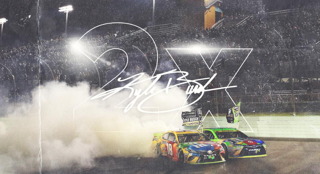 Doubled up.  @KyleBusch | #Championship4 <br>http://pic.twitter.com/x2cK0tPy4r