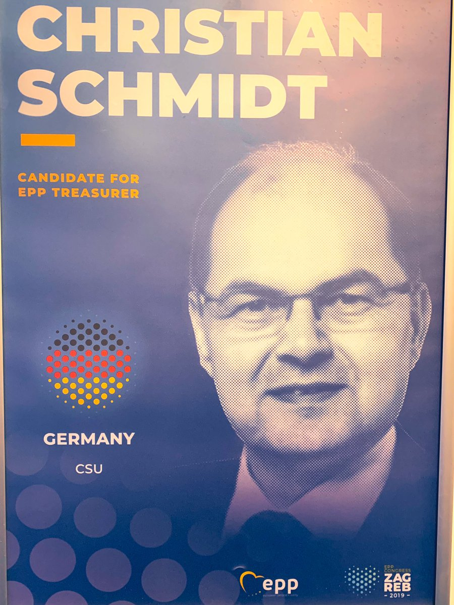 Congratulations Christian Schmidt on the re-election as EPP Treasurer with 95% at #EPPCongress in Zagreb! @EPP