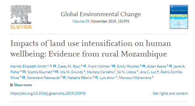 Related research from #AFRICAP team member @harrietsmith27 exploring complex relationships between  #agriculture, #markets, #landuse and rural #livelihoods - providing #evidence from #Mozambique