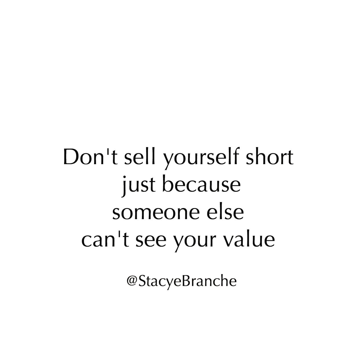 You should never allow someone who cant see your value or appreciate your contribution to make you feel inadequate.    #stacyemorsel  #quotes  #quote  #quoteoftheday  #motivationalquotes  #wordsofwisdom  #wordstoliveby  #holistichealthhealth  #wellness  #wellnessblog