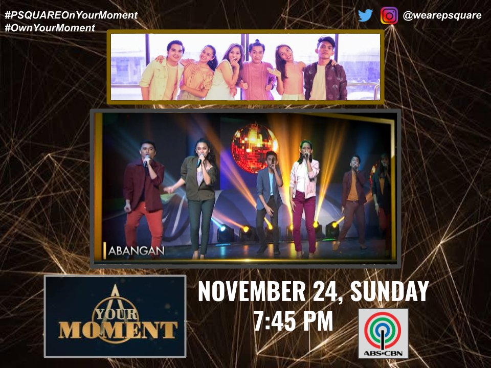 Hi everybody!  This is it! P'Square is in @YourMomentPH!! Please tune in to our performance this Sunday at 7:45 pm!! Thank you so much   #PSQUAREOnYourMoment #OwnYourMoment #EmbraceYourMoment #YourMoment<br>http://pic.twitter.com/4NHCCWKYvc
