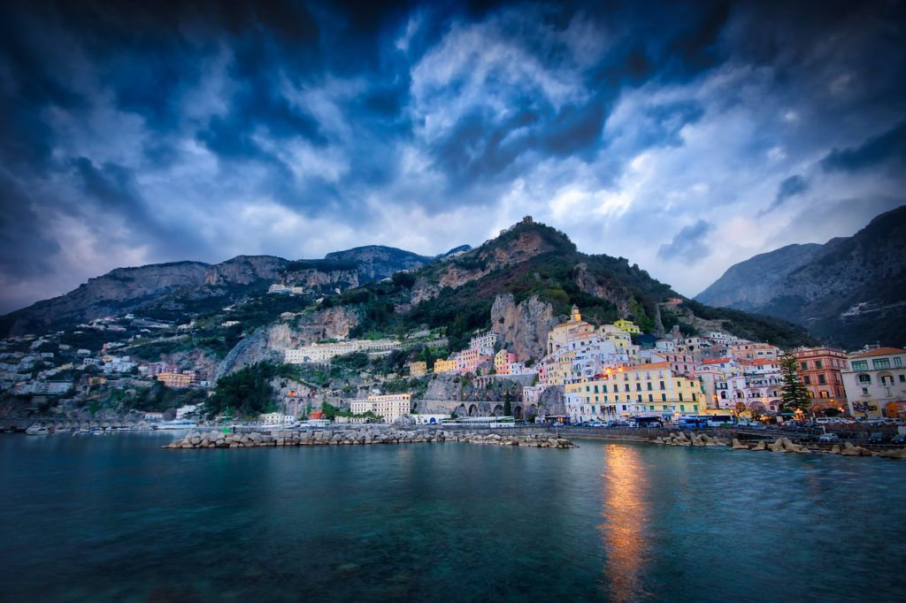 Here is one from the Archive!  New Photo: Amalfi`s Pier  Read more at: https://buff.ly/2AJFwUs #amalfi #blue #buildings #clouds #coastal #dark #Sony #PictureOfTheDay #landscapephotography