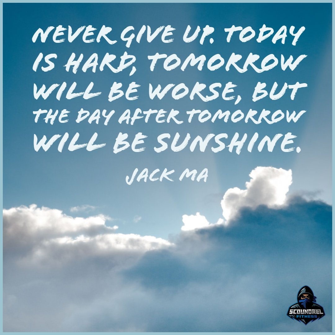 Happy #ThursdayMorning  everyone. Todays motivational quote of the day comes from Jack Ma.  #ThursdayMotivation  #GymMotivation  #FitFam  #FitLife  #Fitness  #FitnessMotivation  #Workout  #Goals  #Sunshine