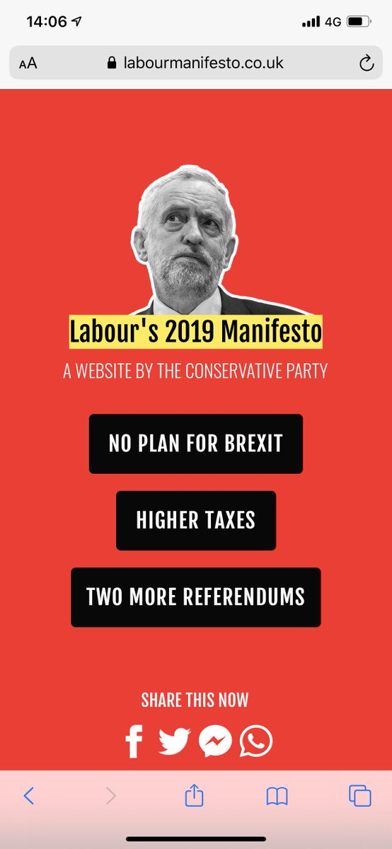 Tories have set up a website to attack Labour. Which is absolutely ok. What is absolutely not ok is they have called it ,uk On an unrelated note I have registered the domain name . Any website designers out there? #fightdisinformation