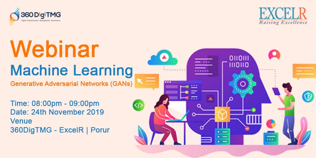 test Twitter Media - 🖥️  #Webinar on GANs of Hallucination Images!  🖥️  Join us on 24th Nov'19 (Sunday) to explore GANs of Hallucination Images in #Machinelearning  🕒 Time: 8:00 PM to 9:00 PM  Register using the below link  👇 Link ->https://t.co/em46zGsnOI  #deeplearning #webinar #360digitmgchennai https://t.co/RW8WCJyEB9