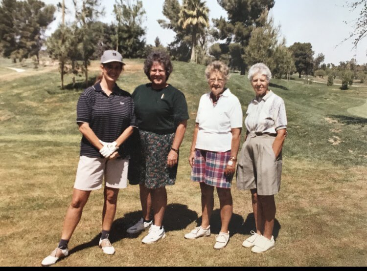 #TBT  Dell Urich Golf Course grand opening, circa 1996: me, Barb Zimmerman, Dot Straw and Rose McPhail...May they all Rest In Peace 😇