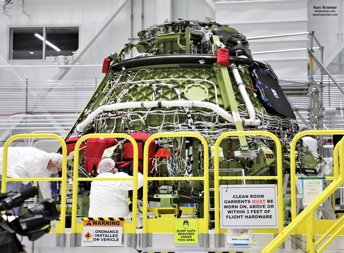 After watching rollout 1st flightworthy @BoeingSpace #Starliner to #Pad40 for uncrewed #OFT test flight NET Dec 17- we toured other Starliner undergoing final assembly inside #C3PF @NASAKennedy for crew test flight #CFT w 3 astronauts early 2020 @Commercial_Crew flight to #ISS