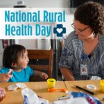 👩⚕️ On National Rural Health Day, we celebrate the #powerofrural, highlighting unique challenges rural citizens face and the efforts of health care providers in these communities.    Explore Ruralite magazine's 2019 series of rural health features. https://t.co/NPeJwDOSgQ