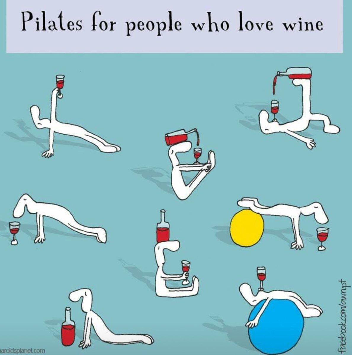 😂😂😂 #pilates #fitness #wine                Love this ❤️🍷🍷🍷🍷🍷