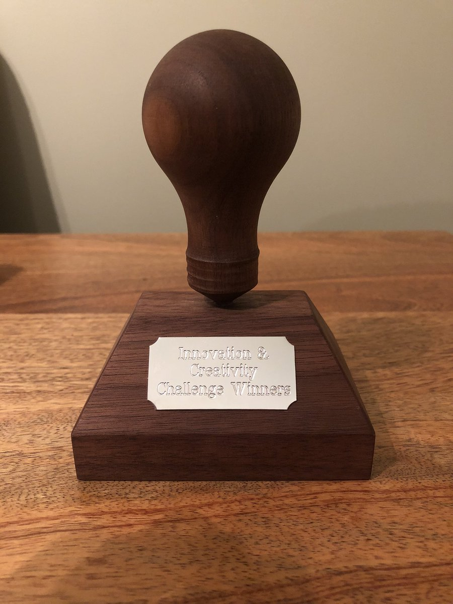 And the @MarjonBusiness students only went and won the Marjon Innovation Challenge this year! They have entrusted to me before finding a suitable home for it to be displayed in the Business School! Well done team! 💡 @marjonuni