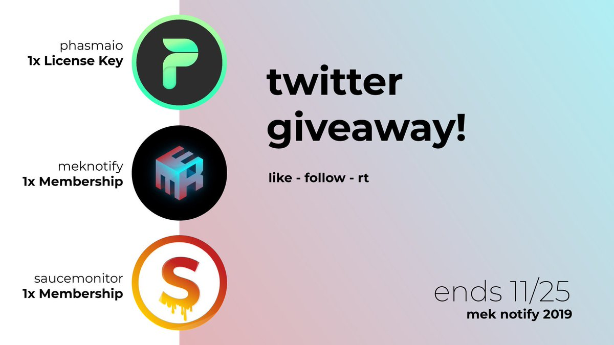 🎁Ultra GIVEAWAY 🎁PRIZES ALL IN GRAPHIC! To enter: - Follow @MEKNotify @PhasmaIO @SauceMonitor 🍝🚀- Retweet ♻️- Like ❤️WINNERS PICKED ON SATURDAY, GOOD LUCK! 🔥