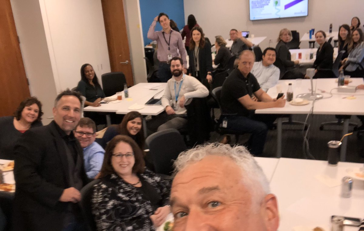 "Super fun ""Climate Lunch and Learn"" in the @Accenture Chicago office, as part of the #24HoursofReality global climate action event! Everyone is amped to tell family during Thanksgiving about our @sciencetargets and our new @theRE100 renewable energy commitment"