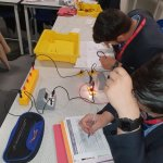 Image for the Tweet beginning: Year 11 scientists, working their