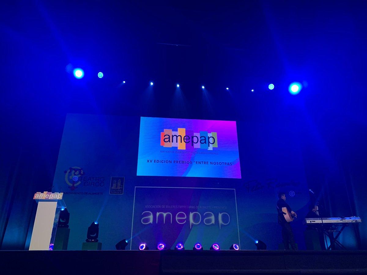 Ya estamos en el @TeatroCircoAB para recoger la mención especial a @MujeresFedepe en los XV #PremiosEntreNosotras junto a @AMEPAP_AB @pastranato @Vicente_Casan @AytoAlbacete @Nacho_Hernando @DGobiernoCLM #Albacete #Mujeres #empresa #talento