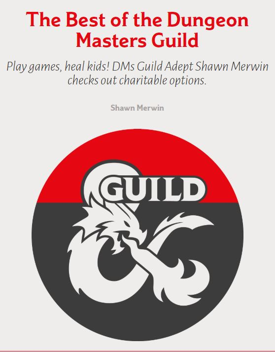 Screenshot of Dragon Plus Magazine, Issue 28. Best of the Dungeon Masters Guild.