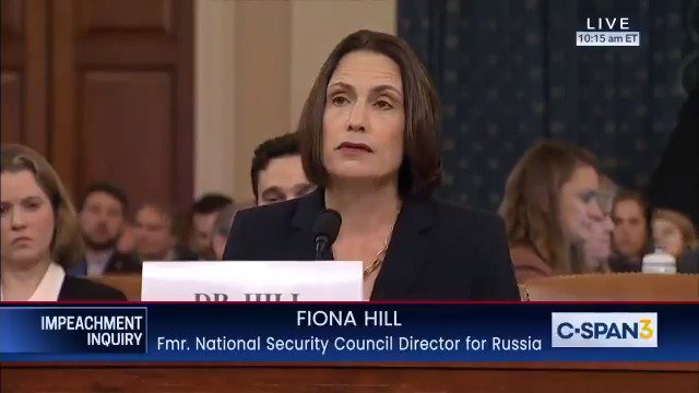 "Dr. Hill: ""Some of you on this committee appear to believe that Russia... did not conduct a campaign against our country—and that... for some reason, Ukraine did. This is a fictional narrative that has been perpetrated and propagated by the Russian security services themselves."""