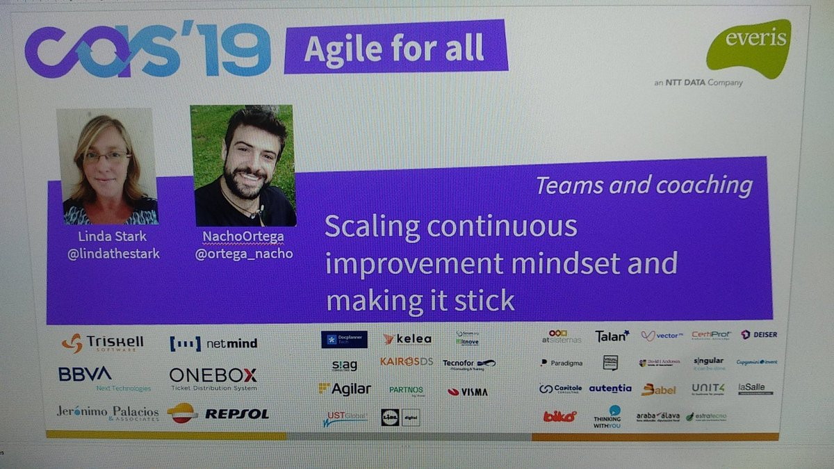 Our brilliant Agile experts @lindathestark and @ortega_nacho are speaking at the @confagilespain tomorrow! 📢 #weflyhigh #agile #agilecoach #Kanban #technology #tech