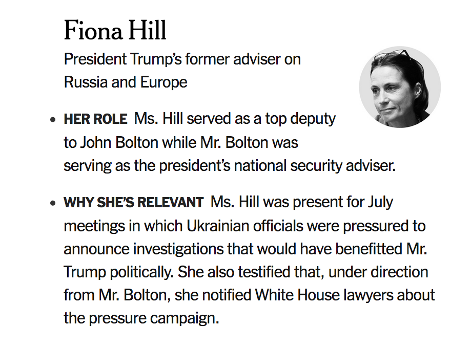 Here's why Fiona Hill is relevant to the impeachment inquiry