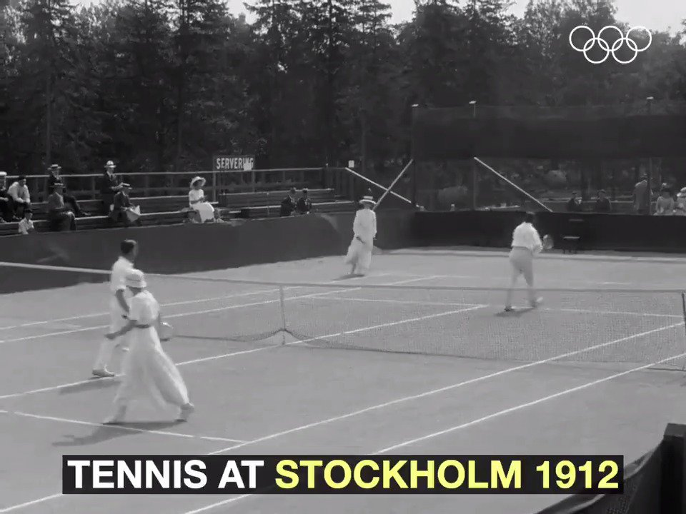 Tennis at the Olympics 107 years ago. 🎾#tbt @ITF_Tennis