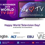 Image for the Tweet beginning: Happy World TV Day! Today