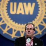 Image for the Tweet beginning: Jones resigns as UAW president,
