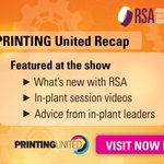 Image for the Tweet beginning: RSA's @printingunited recap. See what's