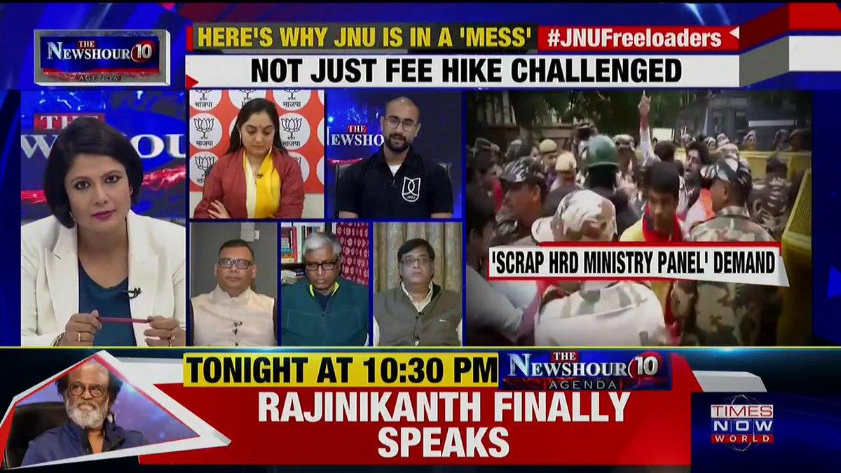 We (JNU) have no profit – no loss mess system: Sunny Dhiman, JNU Student Leader tells Padmaja Joshi on @thenewshour AGENDA. | #JNUFreebies