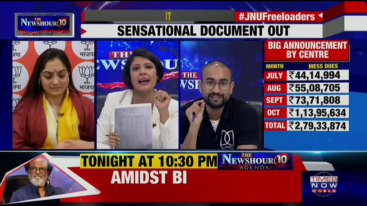 #JNUFreebies | Listen in: Sunny Dhiman, JNU Student Leader talks about his educational & financial background. | Padmaja Joshi on @thenewshour AGENDA.