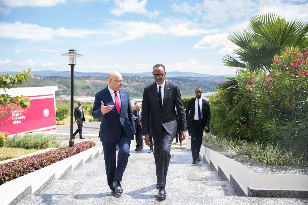 """PHOTOS: """"The milestone we are celebrating today is a significant step in ensuring that we are part of, and benefit from, the global digital revolution."""" President Kagame   Inauguration of CMU-Africa Campus   Kigali, 21 November 2019. To view more photos: https://bit.ly/2QCQeWr"""
