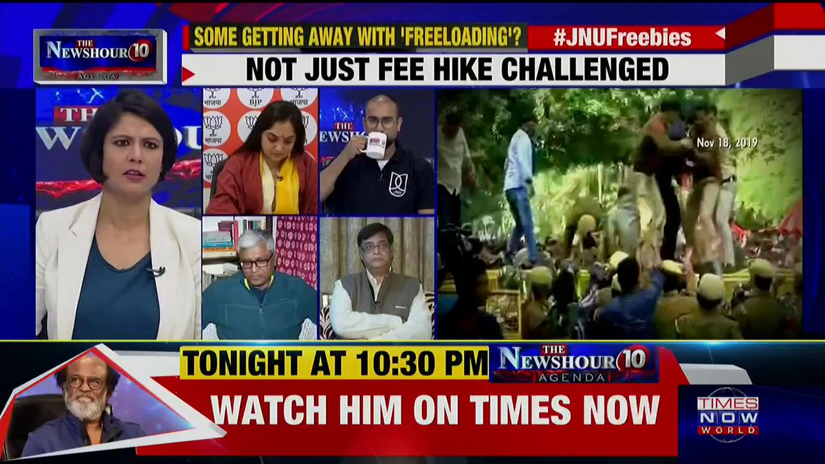 JNU V-C is so incompetent that the dues are increasing day-by-day: @ashutosh83B, Political Analyst & Alumni JNU tells Padmaja Joshi on @thenewshour AGENDA. | #JNUFreebies