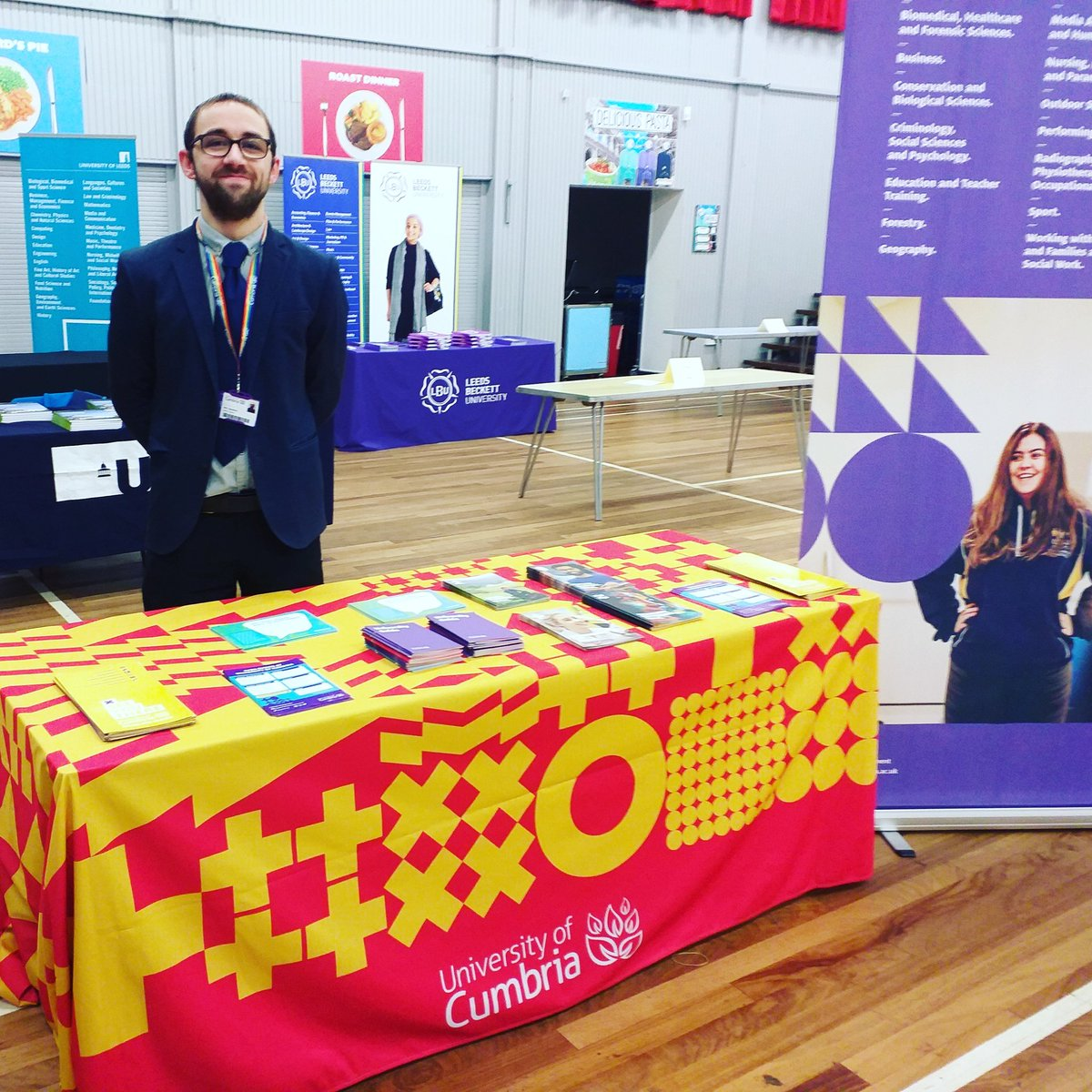 Matt and student Emily are at @KEVIMorpeth @KEVISixthForm for their #KEVIinspires event. We're looking forward to speaking to students and their families about our courses, campuses and all things @CumbriaUni #KEVIcareers #uoc #cumbria #university #seeyouthere #wevegotyou