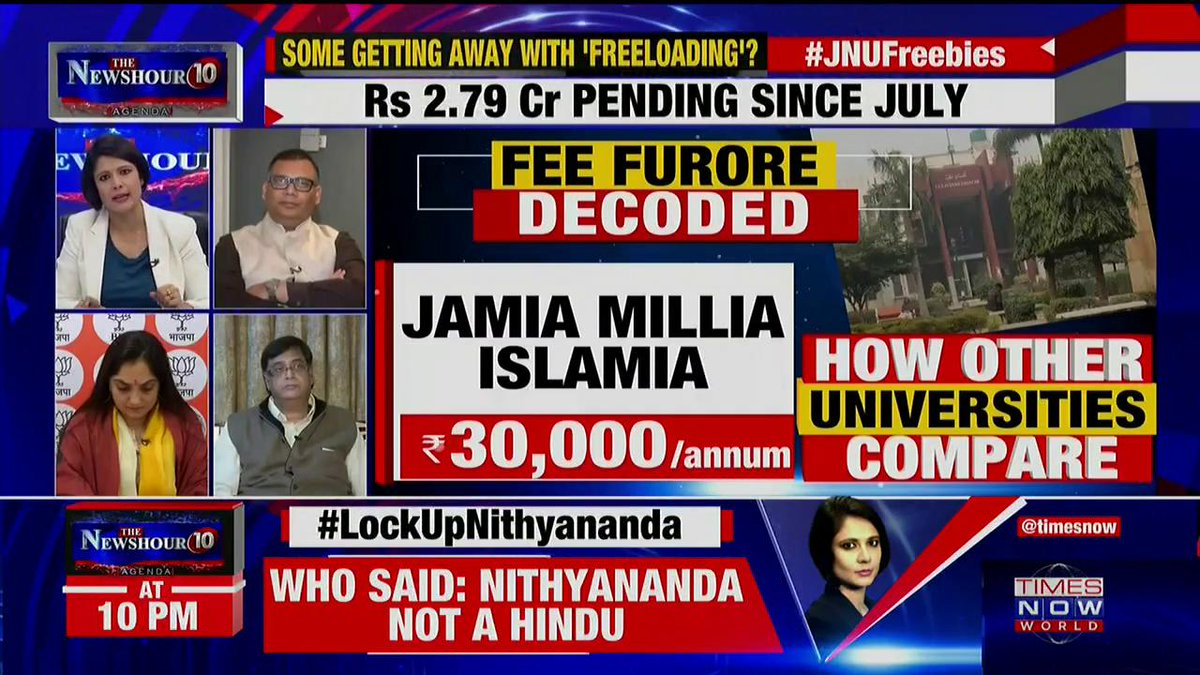 We are not against any private universities: Sunny Dhiman, JNU Student Leader tells Padmaja Joshi on @thenewshour AGENDA. | #JNUFreebies