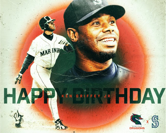 A Seattle LEGEND turns 5  0  today!  Happy birthday Ken Griffey Jr.