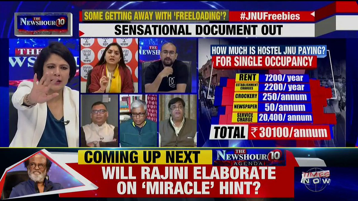 The JNU students must approach the court of law. But, protesting in this way is inappropriate: Gaurang Kanth, Lawyer tells Padmaja Joshi on @thenewshour AGENDA. | #JNUFreebies