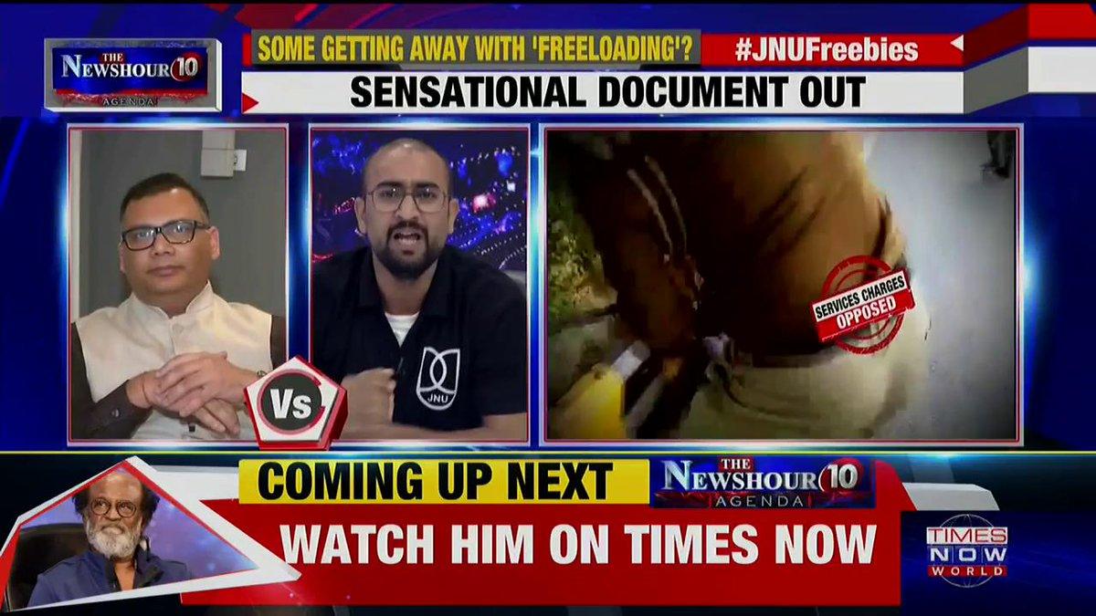 Listen in: Padmaja Joshi slams the claims of Sunny Dhiman, JNU Student Leader on @thenewshour AGENDA. | #JNUFreebies