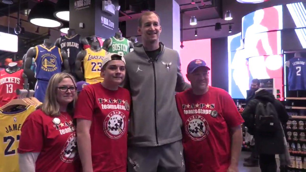 .@CodyZeller had an awesome time shopping with the Hann family at the @nbastore!   @TAPSorg x @nbacares | #HoopsForTroops x #AllFly