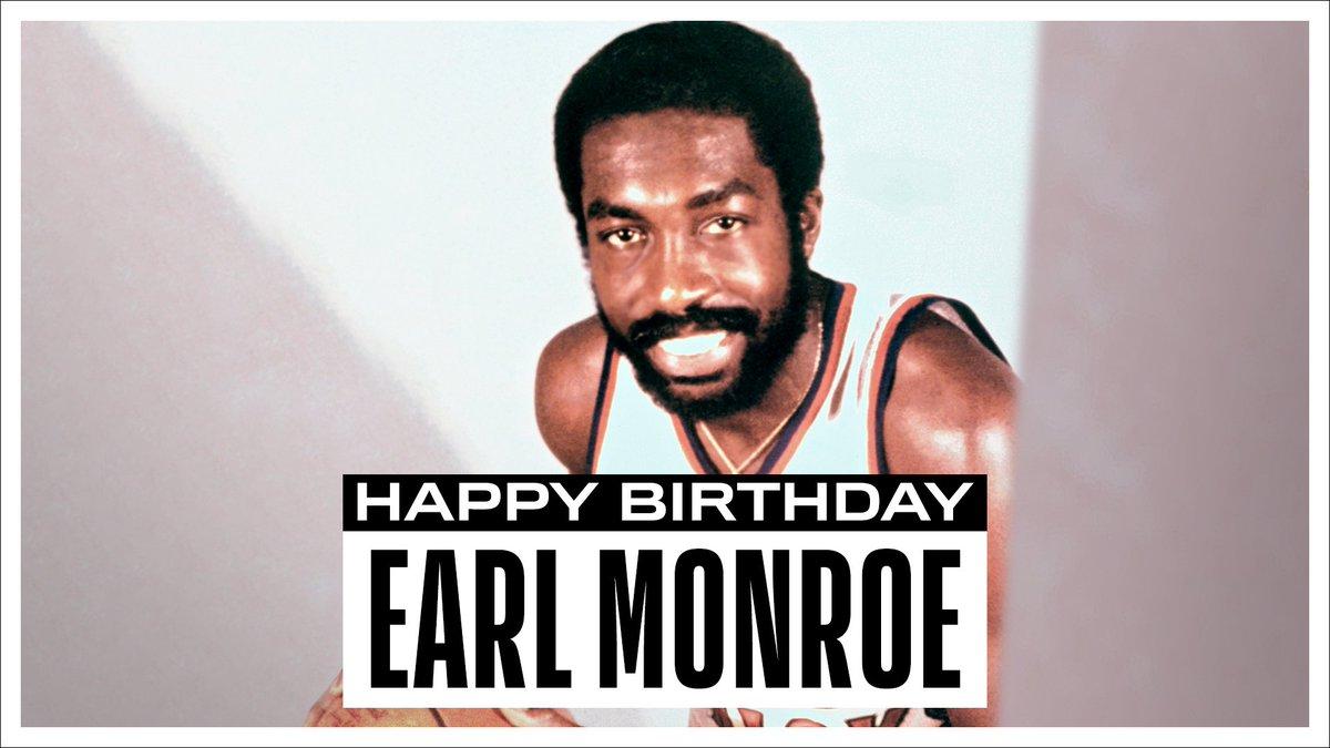 Join us in wishing a Happy 75th Birthday to 4x #NBAAllStar, '73 NBA Champion & @Hoophall inductee, Earl Monroe! #NBABDAY