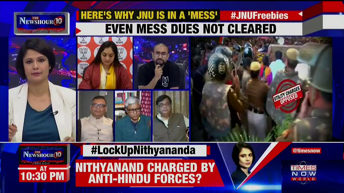 We all respect the JNU fraternity but this is not the way to protest against fee hike: Gaurang Kanth, Lawyer tells Padmaja Joshi on @thenewshour AGENDA. | #JNUFreebies