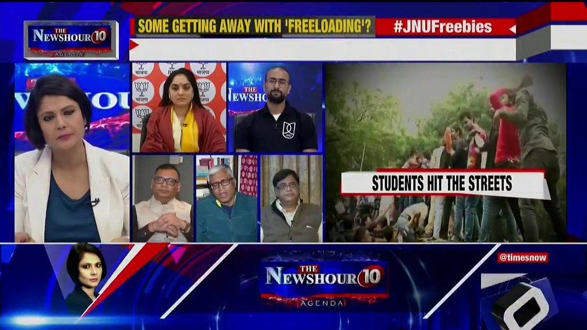 I think JNU is one of the best universities in the world and India should be proud of it: @ashutosh83B, Political Analyst & Alumni JNU tells Padmaja Joshi on @thenewshour AGENDA. | #JNUFreebies