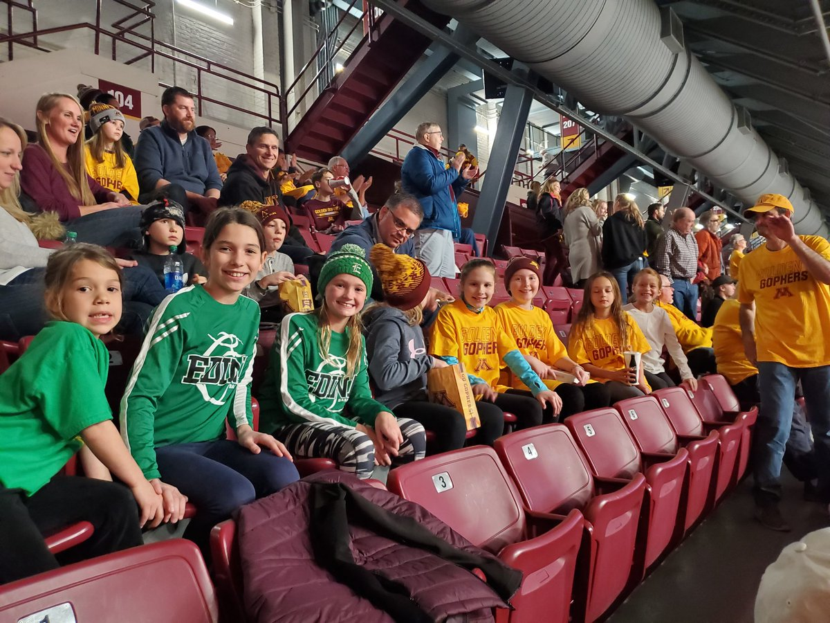 Edina 4A girls basketball representing at last Sunday's Gophers Women's basketball game.