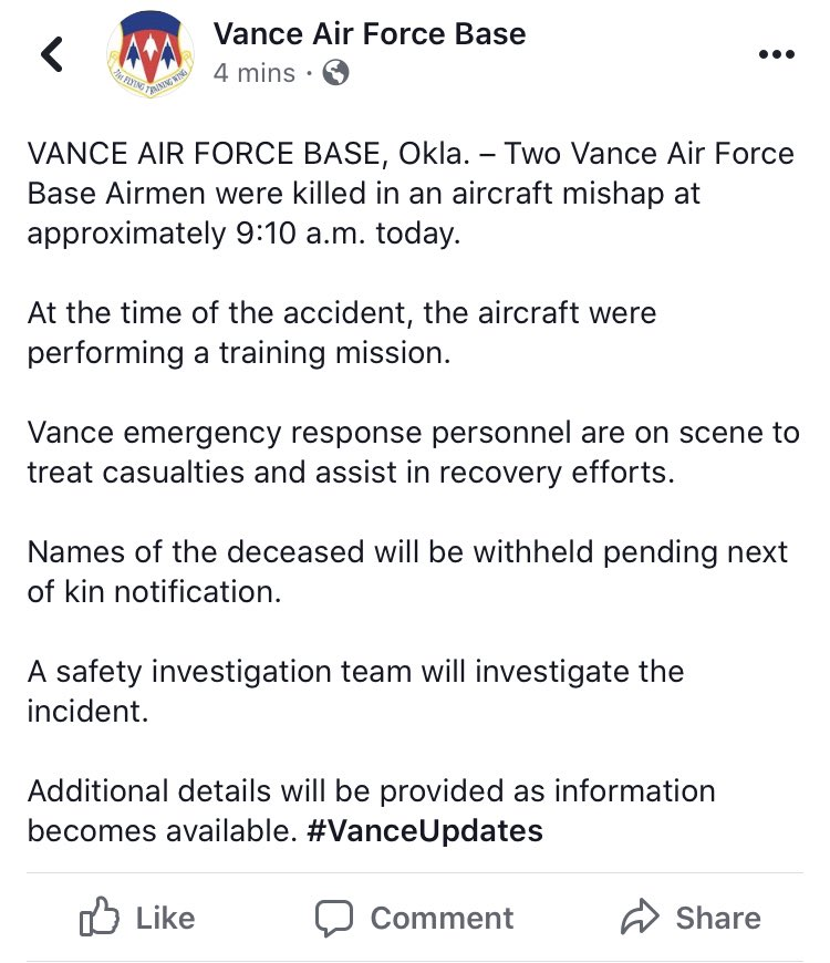 @KOCOJason's photo on Vance Air Force Base