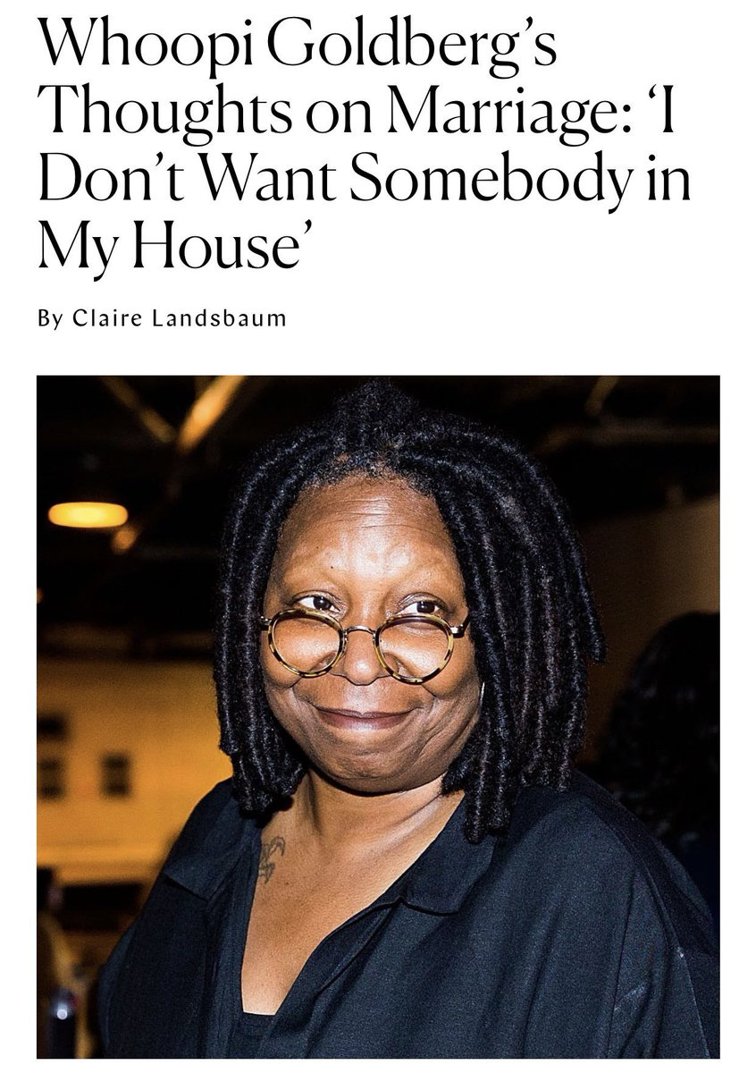 When it comes to marriage l am Aunty Whoopi 😂🤣